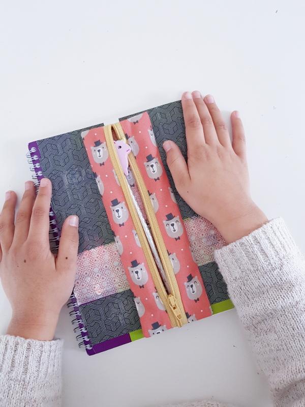 tuto couture facile pour débutant et enfant - lilaxel - trousse bujo et agenda