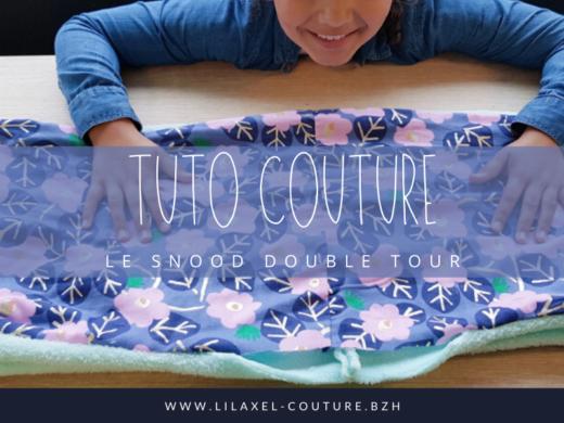 tuto couture pour enfant - lilaxel - snood double tour