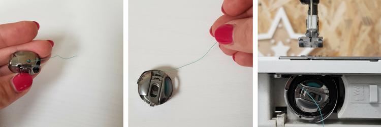 découverte de la machine à coudre - mettre la canette en place - lilaxel