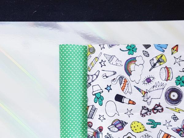 kit couture guirlande de fanions lilaxel - argent