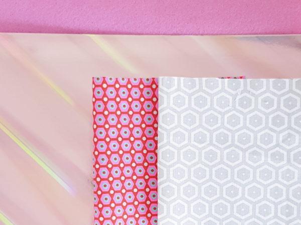 kit couture guirlande de fanions lilaxel - rose
