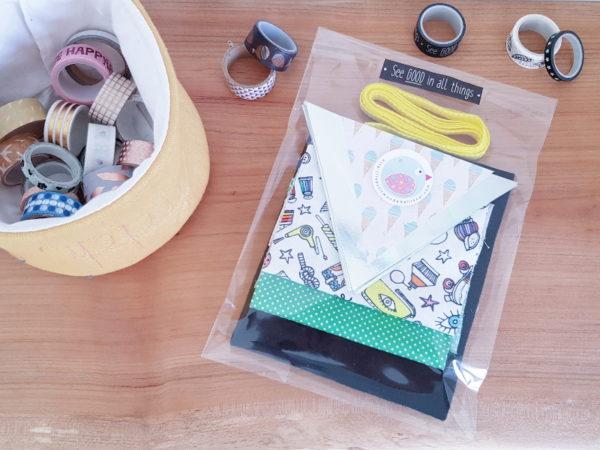 kit couture guirlande de fanions lilaxel