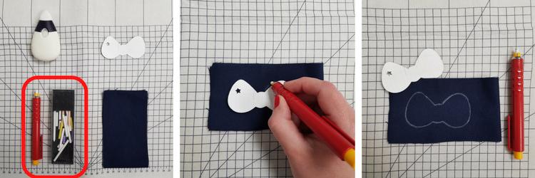 débuter en couture - les outils de traçage - le crayon craie - lilaxel
