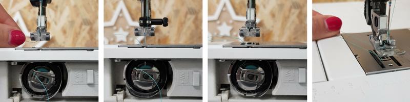 découverte de la machine à coudre - installer le fil de canette - lilaxel