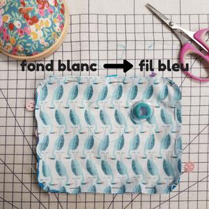 tuto couture débutant - poser un passepoil - fil de canette contrastant - lilaxel