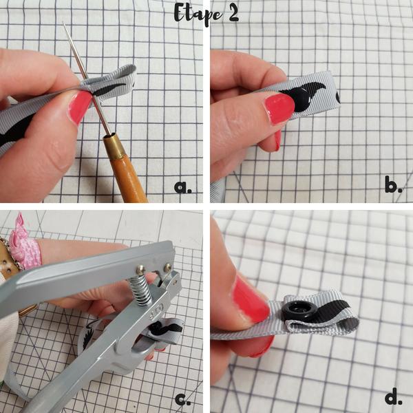 tuto couture débutant - attache-tétine sans outure étape 2 - lilaxel