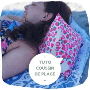tuto couture lilaxel pour enfant et débutant le coussin de plage